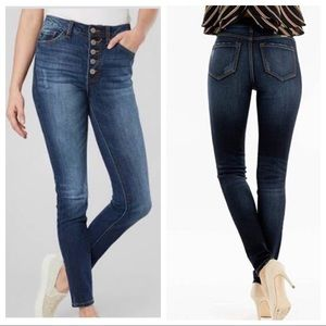 KanCan Jeans - KANCAN high waist skinny jeans blue denim STRETCH